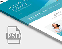 Free PSD Ashley one page