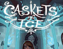 Book cover illustration: Caskets of Ice
