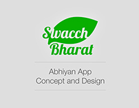 Swacch Bharat Abhiyan App Concept
