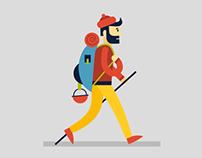 Backpacker Walk Cycle