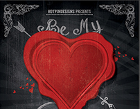 Vintage Valentines Party Flyer Template