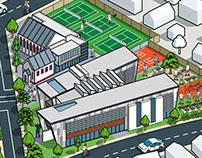 Brighton Grammar School Map Illustration