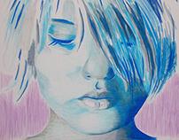 Nina mooi - Painting 100x100 cm