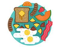 Food Editorial Illustrations