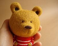 """""""Geoffrey"""" textile Art Toy"""