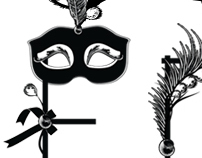 Masked ball font