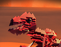 T-rex on mars :) low-poly