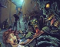 Zombie Vodka Poster Illustration