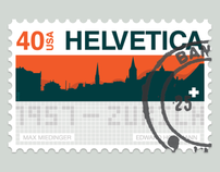 Postage Stamps: Tribute to Helvetica