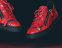 #WhatTheLevitation - Giuseppe Zanotti Red Quilted Low