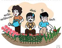 Cartoon for Singha Facebook