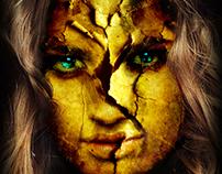 Poster girl's strange skin