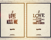 FOR LOVERS ONLY TYPOGRAPHY