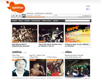 Optimus Música - Site Blitz