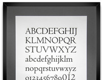 Assorted Types ~ Centaur Letterpress Poster
