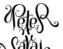Ambigram Wedding invite