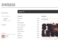 Stateless Discography Website