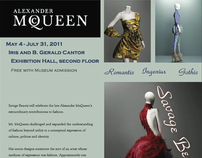 Alexander McQueen Savage Beauty Exhibit Poster