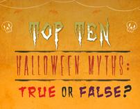 Top Ten Halloween Myths : True or False?