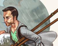 "Self Portrait After Rockwell's ""Wet Paint"""