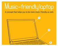 Music-friendly laptop