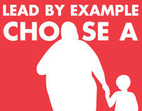 """AIGA Design for Good Poster """"Lead by Example"""""""