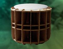 R1 cardboard stool