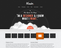 Wonder Theme - A Free Website PSD Template