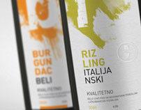 Wine label design - student work