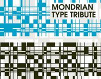 Mondrian Typographical Tribute 'BETA'