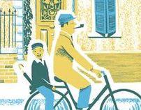 """""""A Ride Through Town"""" Poster"""