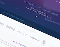 Music Website Redesign
