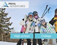 Priya Adventures Website Design