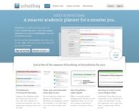 Schooltraq homepage design