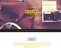 MISSANO - WordPress One Page Responsive Portfolio