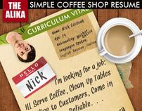 Simple Coffee Shop Resume