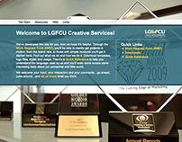 LGFCU Creative Services Intranet Site