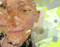 Glitching act / glitch art portraits