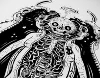 Drawings and inked illustrations