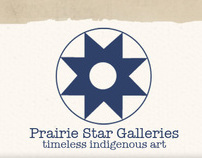 Prairie Star Logo and Home Page Design