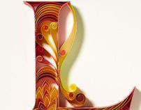 Paper Typography for Tanishq jewellery line Part 1