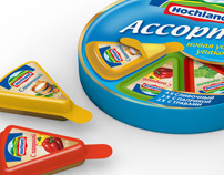 Hochland cheese pack for Russian market