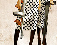 Trendy girls with guns '09 FW - fashion illustrations