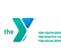 Business card layout for YMCA of the USA