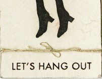 Let's Hang Out   party invitation