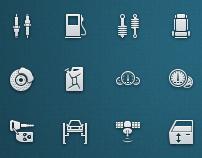 Auto Service Vector Icons