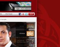 Medi1TV Channel Website (Homepage Design)