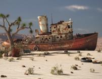 Desert Rusty Boat