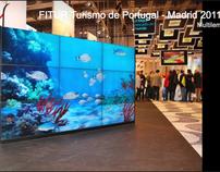 Aquario para montra do turismo de portugal