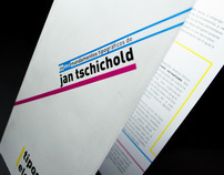 Folder| dez mandamentos tipográficos de Jan Tschichold